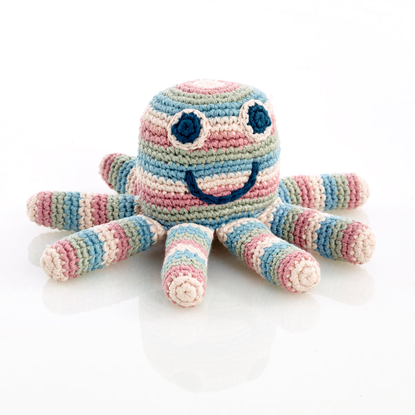 Octopus Soft Handwoven Baby Rattle
