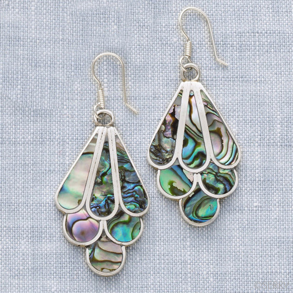 Abalone Water Drop Earrings