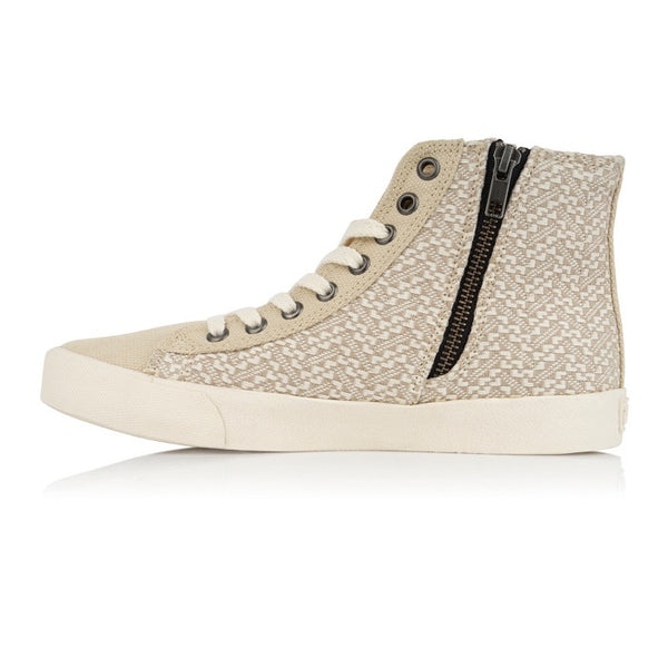 Vegan High Top Sneaker - Beige