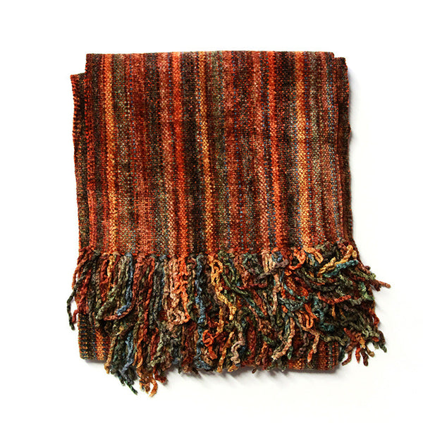 Autumn Stripes Bamboo Chenille Scarf