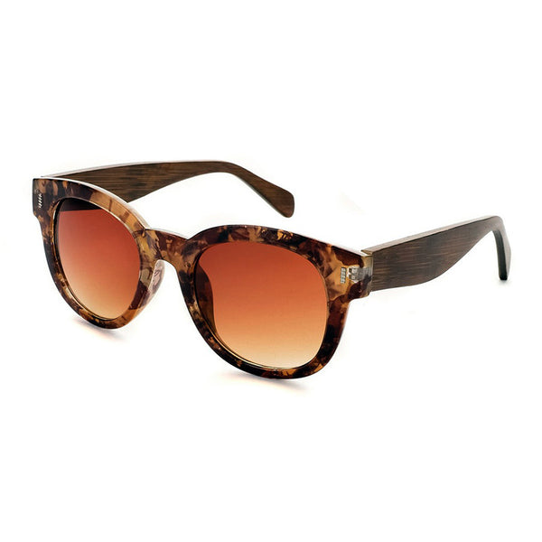 Clarita Brown Marbled Sunglasses