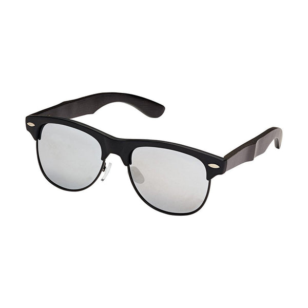 Julian Matte Metal & Black Bamboo Sunglasses