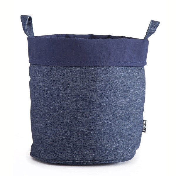Indigo Blue Large Canvas Storage Bucket
