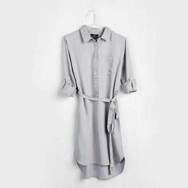 Gray Banbury Tencel Dress