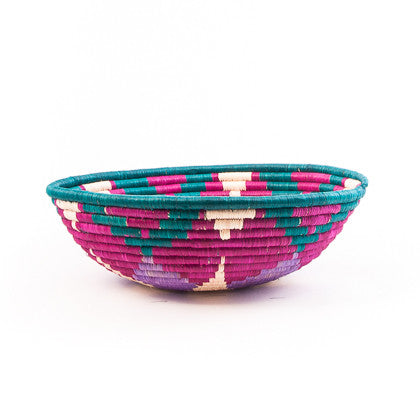 Bright Berry Large Woven Basket
