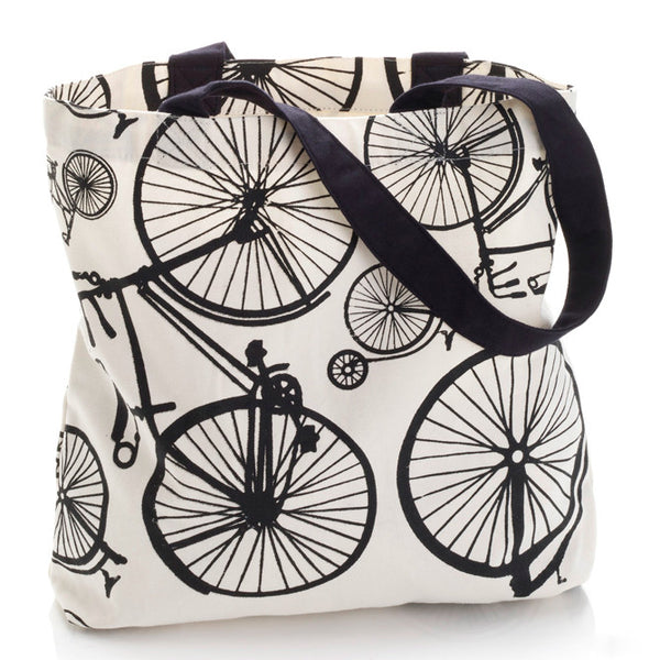 Bicycle Print Tote Bag