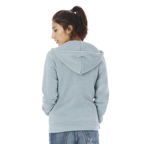 Adrian Eco-Fleece Zip-Up Hoodie - Blue
