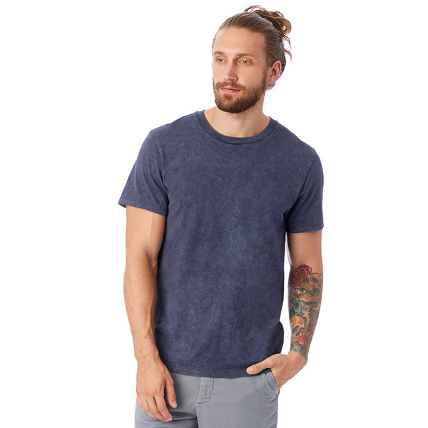 Perfect Denim Wash Organic Crew Tee