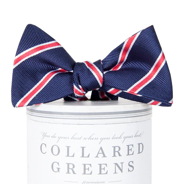 Bogart Bow Tie - Navy & Red