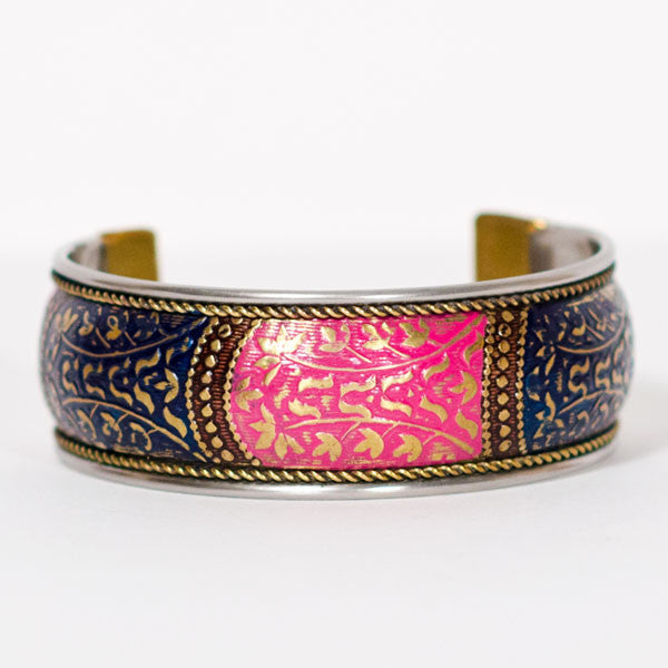 Bollywood Prink & Blue Cuff