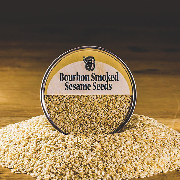 Bourbon Smoked Sesame Seeds