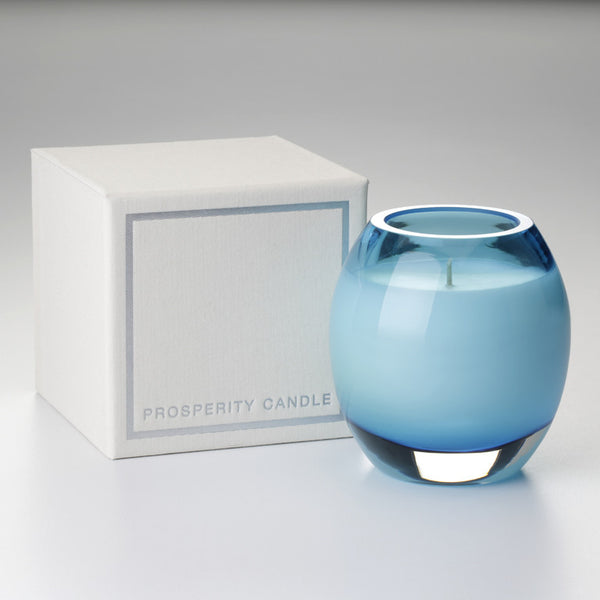 Glass Brilliance Candle Cerulean Blue