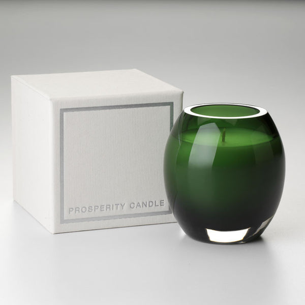 Glass Brilliance Candle Emerald Green