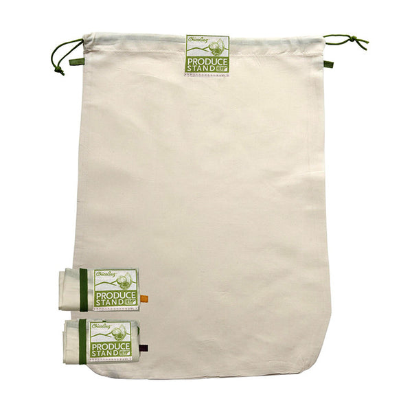 Reusable Natural Fabric Produce Bags 3-Pack