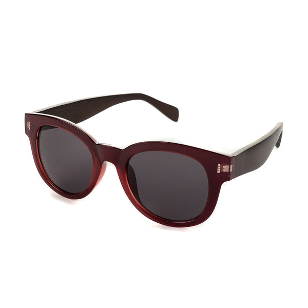 Clarita Merlot & Brown Bamboo Sunglasses