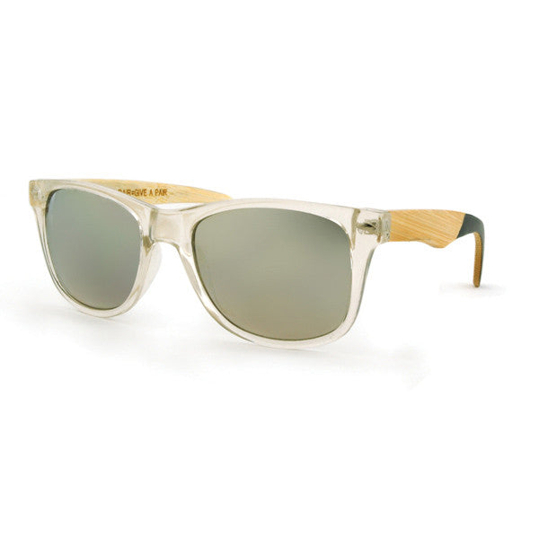 Color Block Crystal Clear Sunglasses