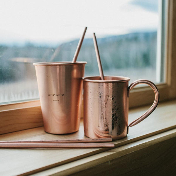 Copper Straw Set