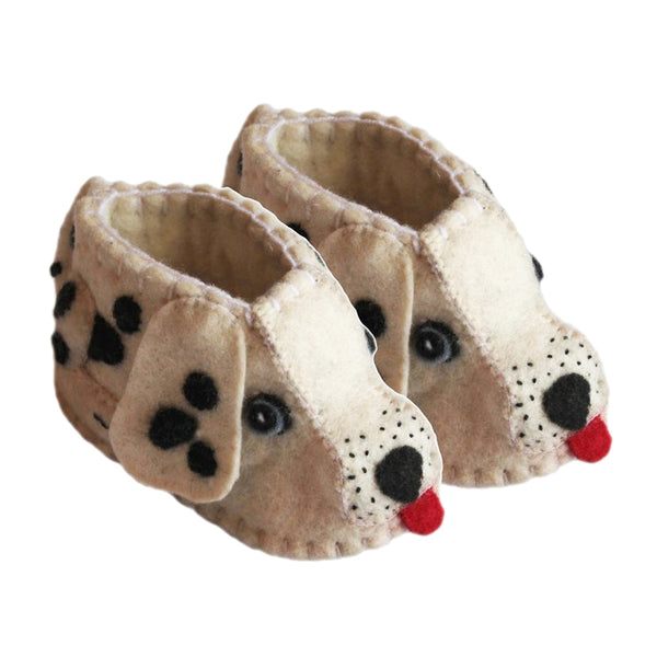 Zooties Wool Baby Booties - Dalmation