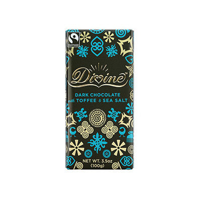 Dark Chocolate with Toffee & Sea Salt Bar