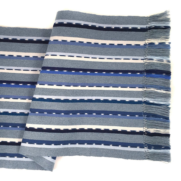 Blue Sololá Striped Table Runner