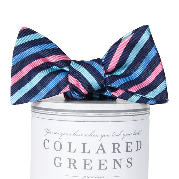 Eastwood Bow Tie - Navy & Pink