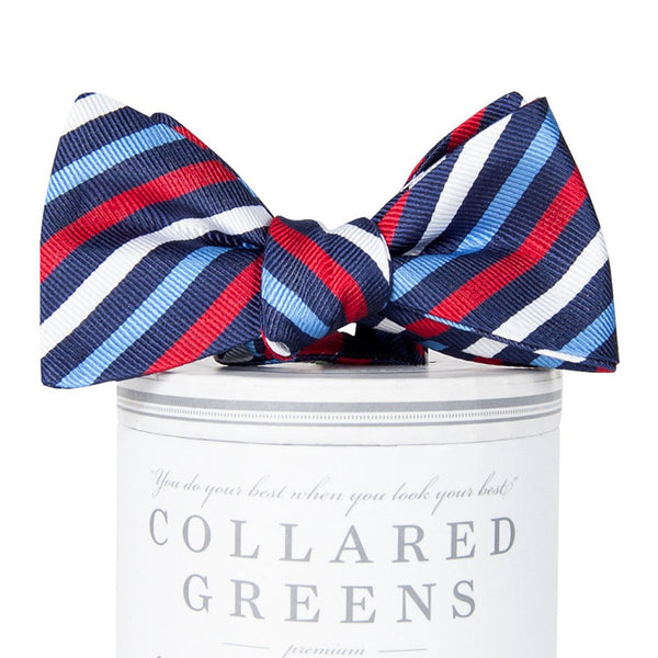 Eastwood Bow Tie - Navy & Red