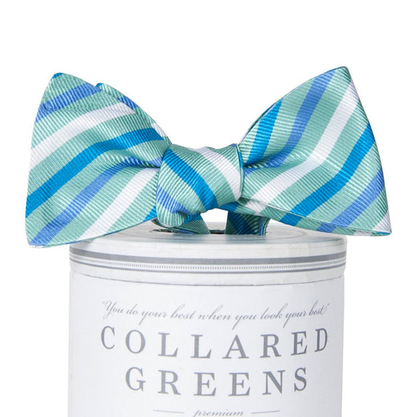 Eastwood Bow Tie - Teal & Blue