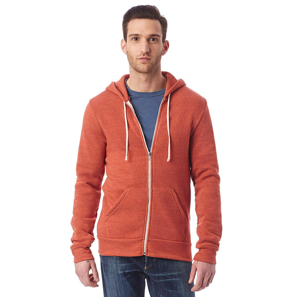 Rocky Eco-Fleece Zip-Up Hoodie - Burnt Rock