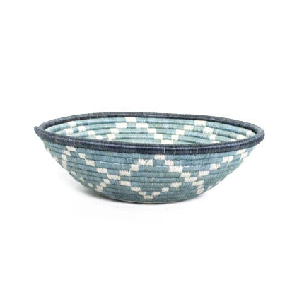 Dusty Blue Large Woven Basket