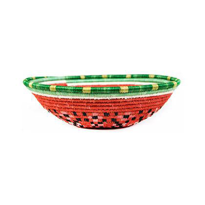 Watermelon Large Woven Basket