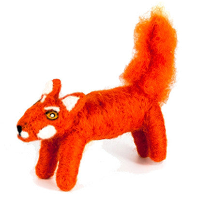 Felted Wool Fox Handmade Ornament