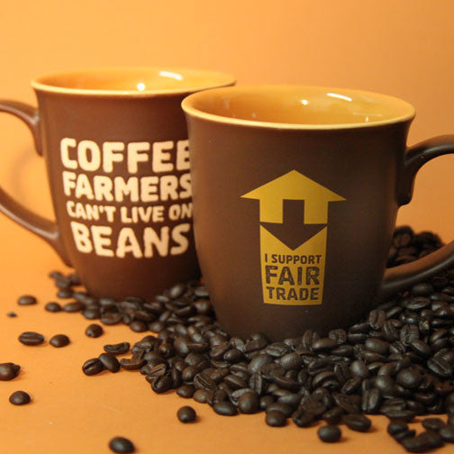 Support Fair Trade Ceramic Coffee Mug