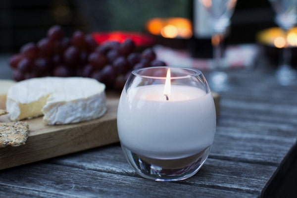Glass Brilliance Candle Carmine Red