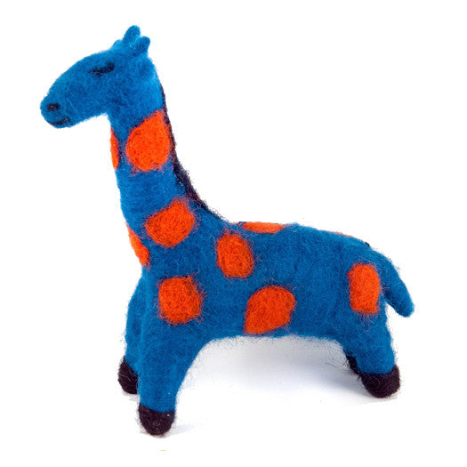 Felted Wool Giraffe Handmade Ornament