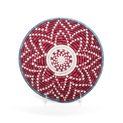 Garnet Bloom Large Woven Basket
