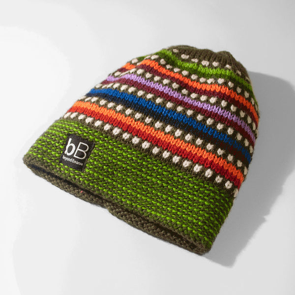 b5b6d190fce Green Rainbow Fleece-Lined Beanie