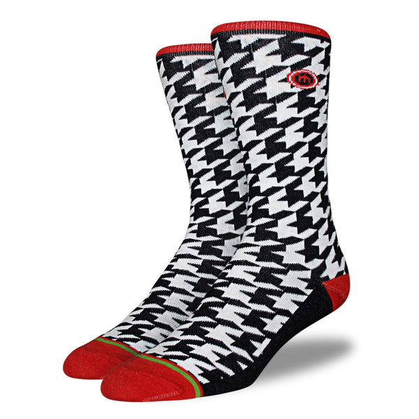 Houndstooth Patterned Socks