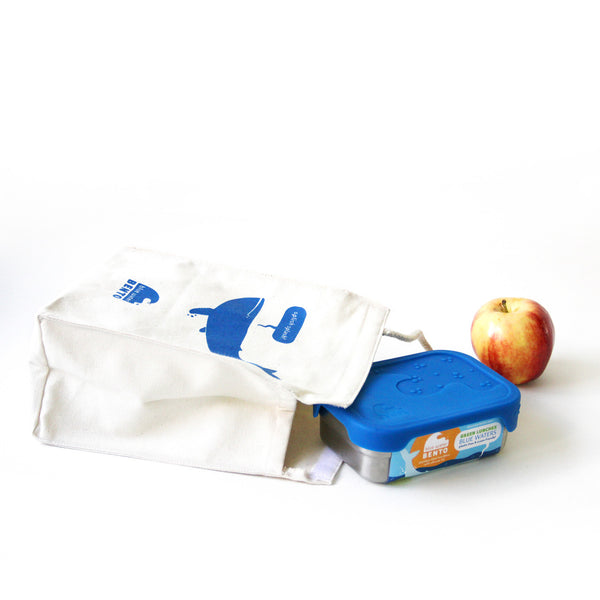 Blue Whale Organic Cotton Lunch Bag