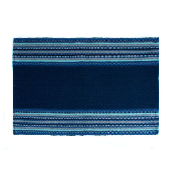 Indigo Blues Striped Placemats, Set of 4