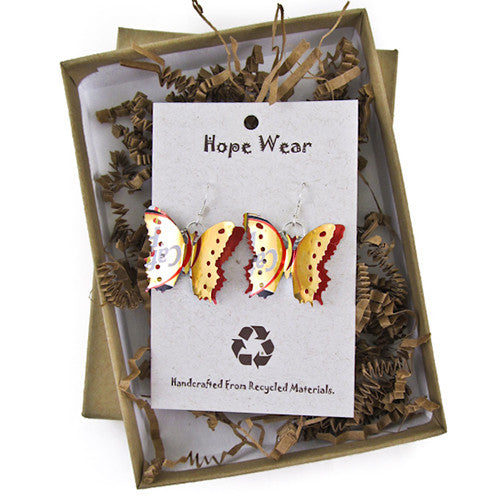 Recycled Butterfly Earrings