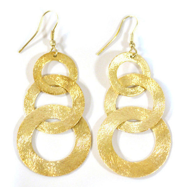 Linked Up Gold Earrings