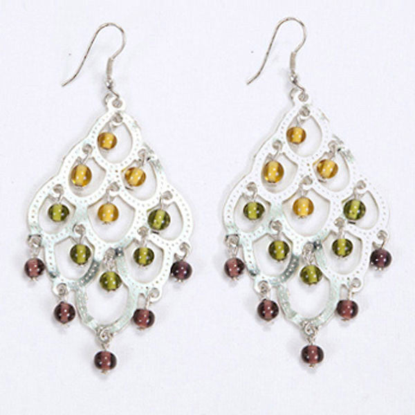 Chandelier Earrings - Fall Colors