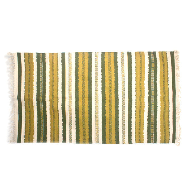 Leaf Green Stripes Rug