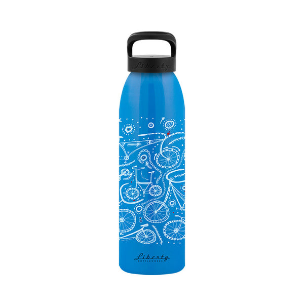 Pedal Power Recycled Aluminum Reusable Water Bottle