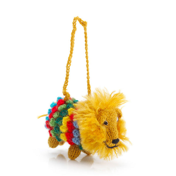 Hand-Kintted Lion Ornament