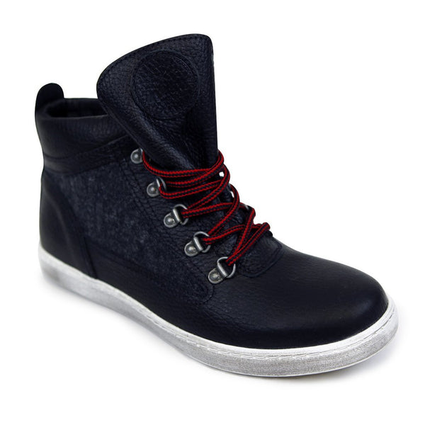 Black Wool Sneaker Boot