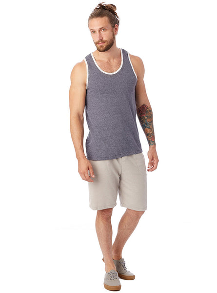 Marine Eco-Jersey Striped Tank Top