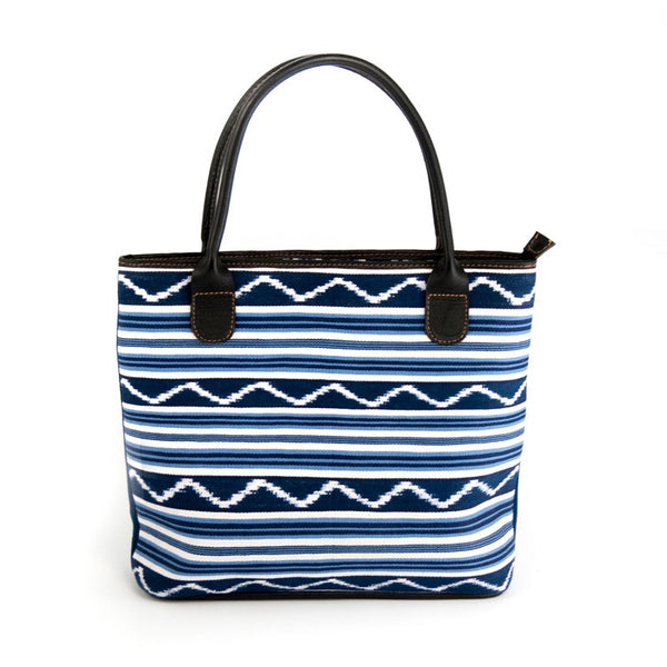 Blue Stripes Medium Handbag