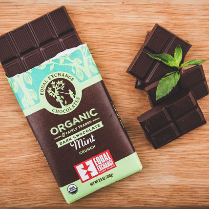 Dark Chocolate Mint Bar with a Delicate Crunch
