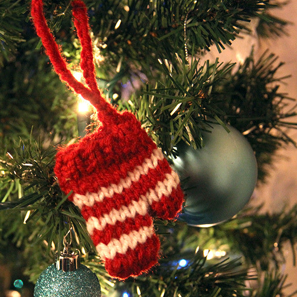 Hand-Knitted Mittens Ornament